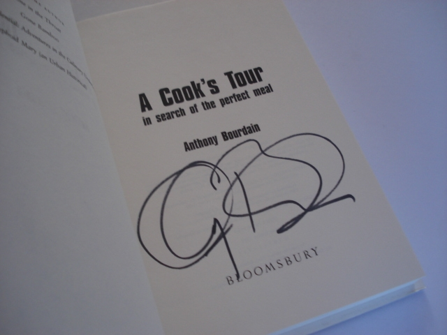 Signed A Cook's Tour
