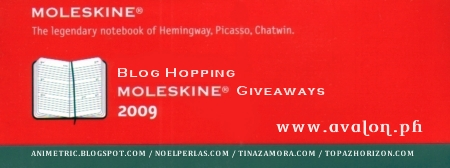 Moleskine Giveaways 2009