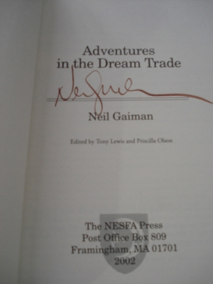 SIGNED by Neil Gaiman