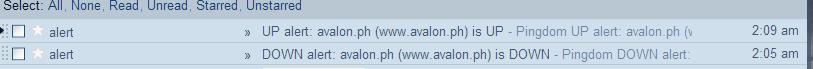 Pingdom email