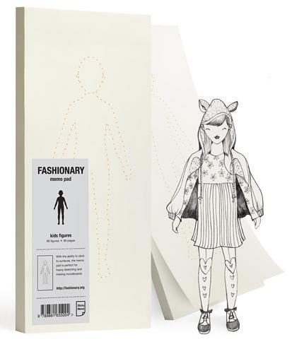 Fashionary Kids Figure Memo Pad