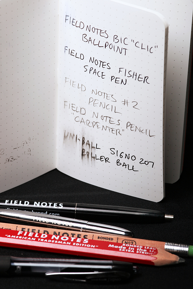 Field Notes Expedition Ink Test